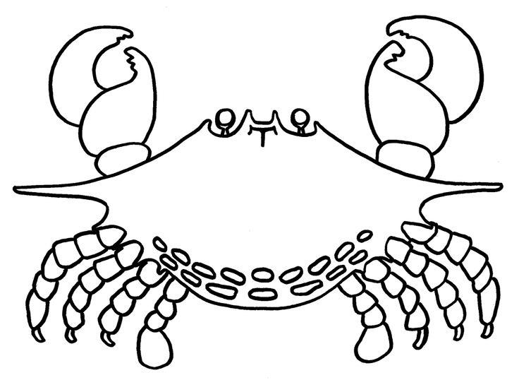 Crab Coloring Pages Printable