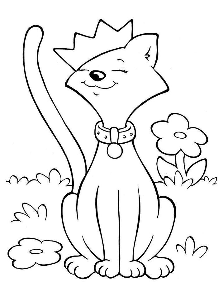 Crayola Coloring Pages Cat Flower