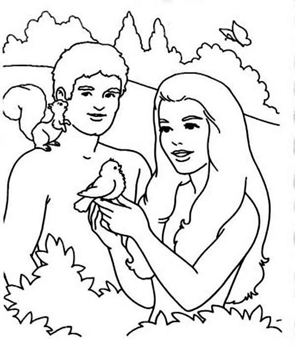 Creation Coloring Pages Adam And Eve