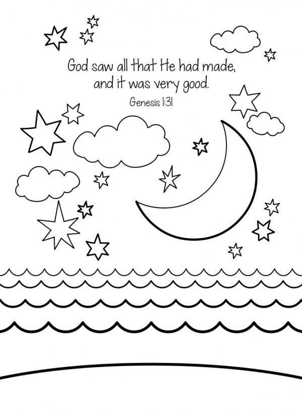 Creation Coloring Pages Day Four