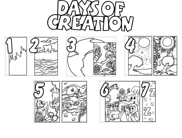 Creation Coloring Pages Days Of Creation