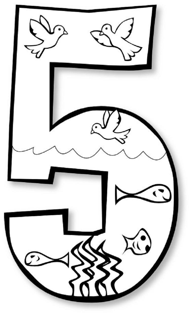 Creation Number Coloring Pages
