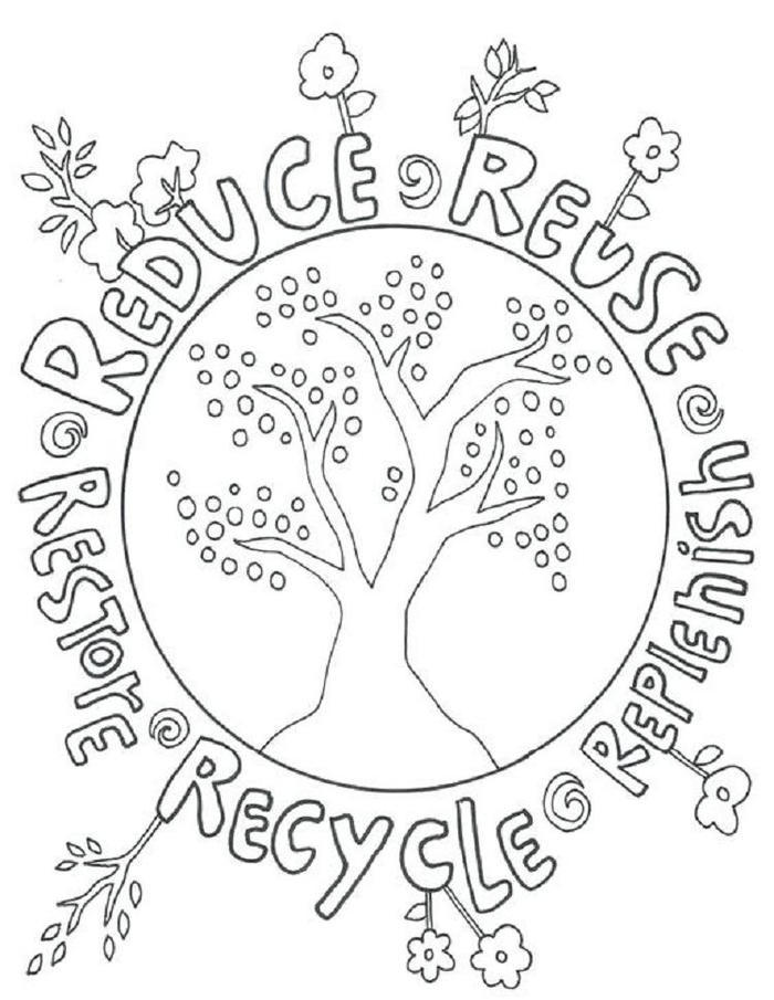 Creative Earth Coloring Pages