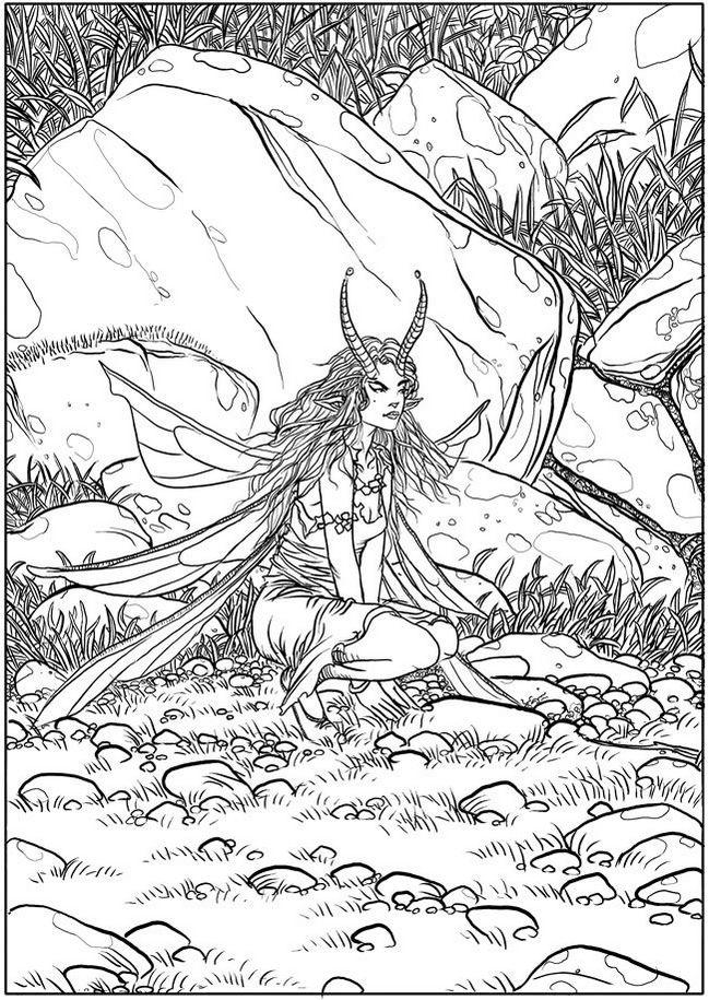 Creative Haven Winged Fantasy Coloring Book Adult