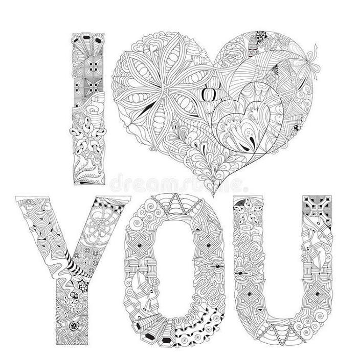 Creative I Love You Coloring Pages