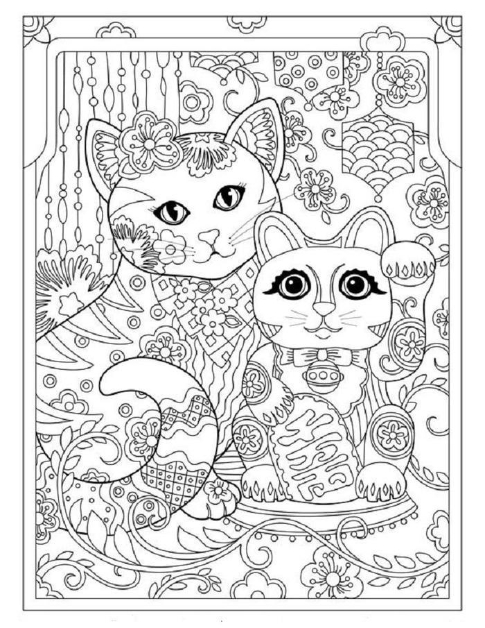Creative Kittens Coloring Pages