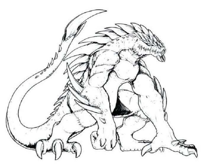 Creepy Dragons Coloring Pages