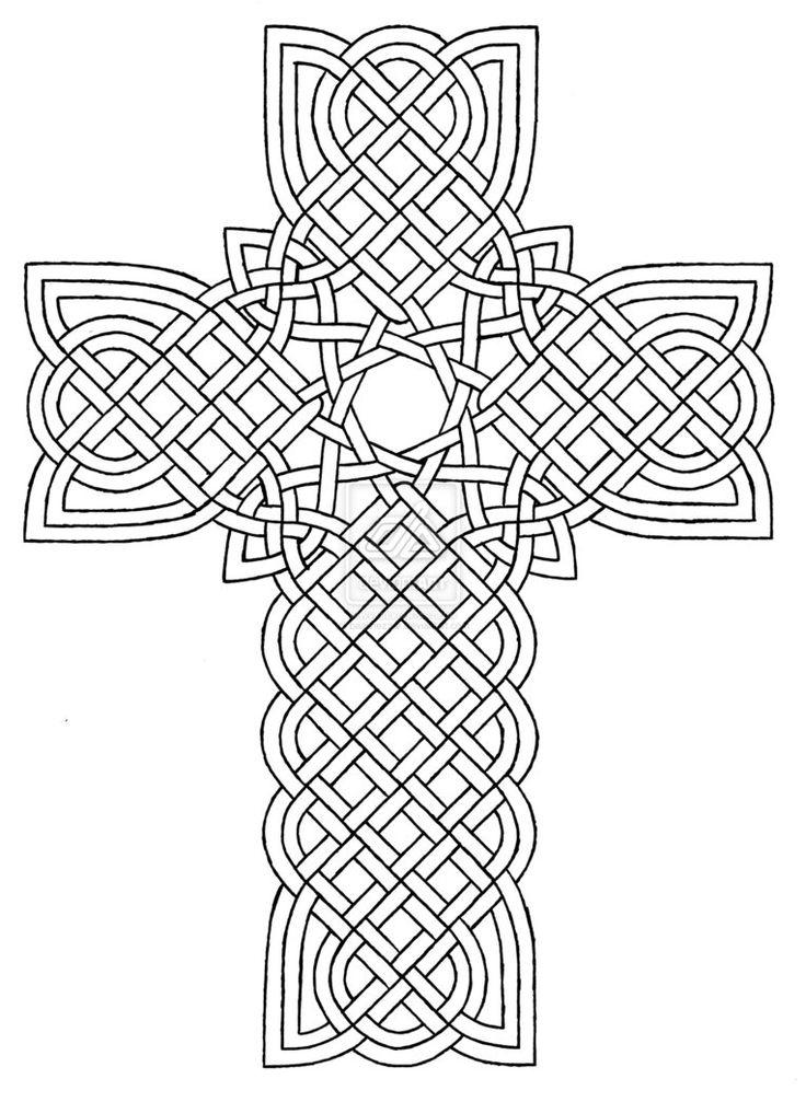 Cross Coloring Pages Geometric