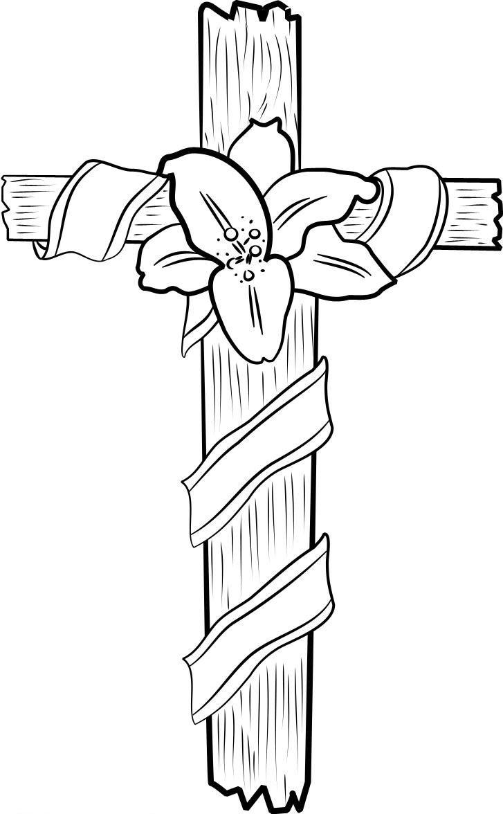 Cross Coloring Pages Lily Flower