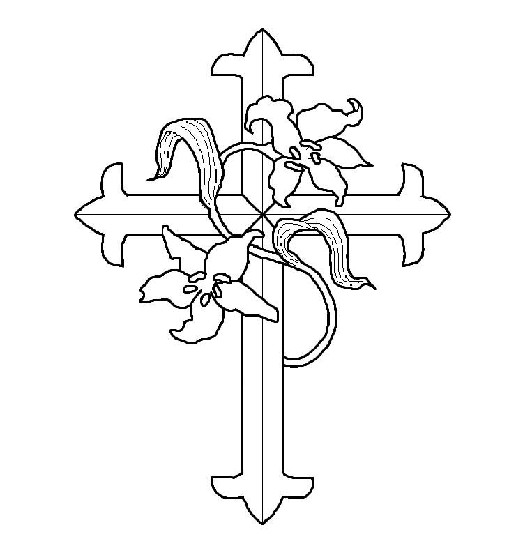 Cross Coloring Pages Printable Free
