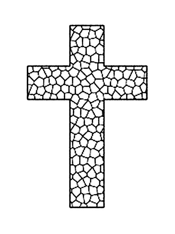 Cross Coloring Pages Stained Glass