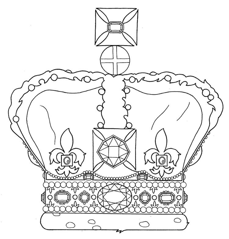 Crown Of Queen London Coloring Page