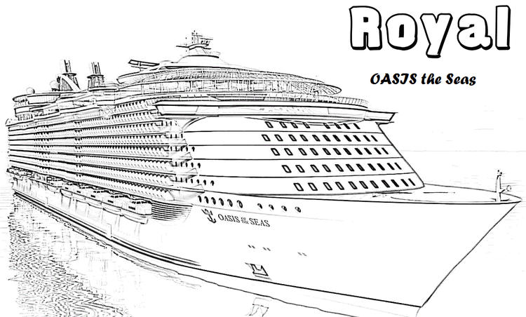 Cruise Ship To The World Coloring Pages
