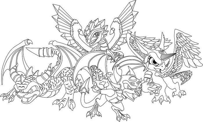 Crystal Dragons Coloring Pages