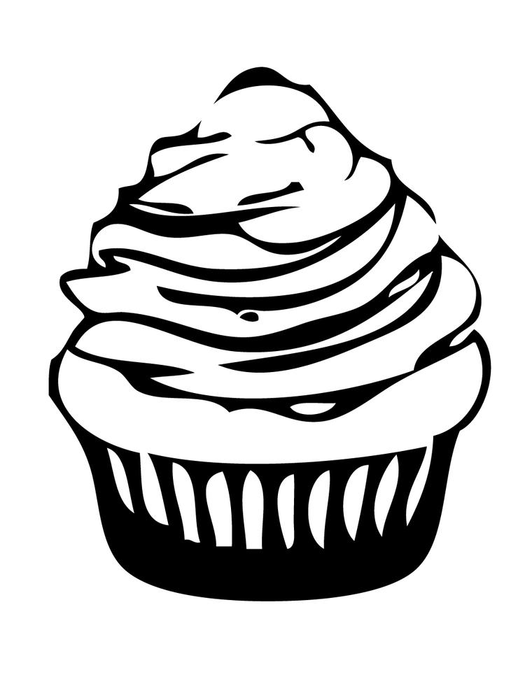Cupcake Coloring Page For Kids