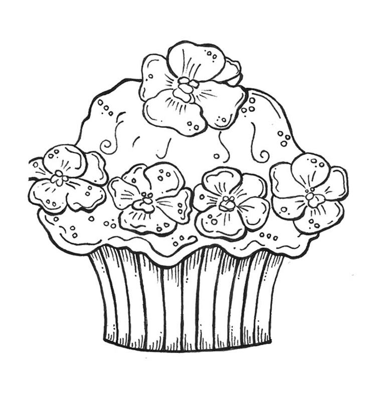 Cupcake Coloring Pages For Girls