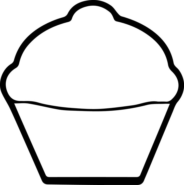 Cupcake Coloring Pages For Toddler