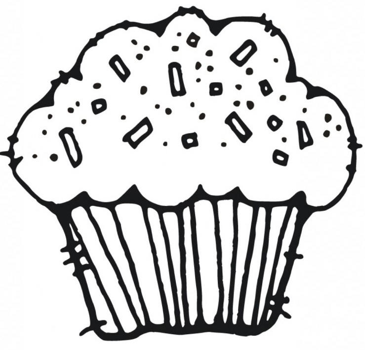 Cupcake Coloring Pages Without Topping1