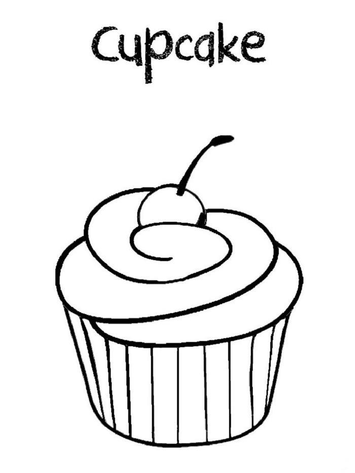 Cupcakes Coloring Pages For Preschoolers