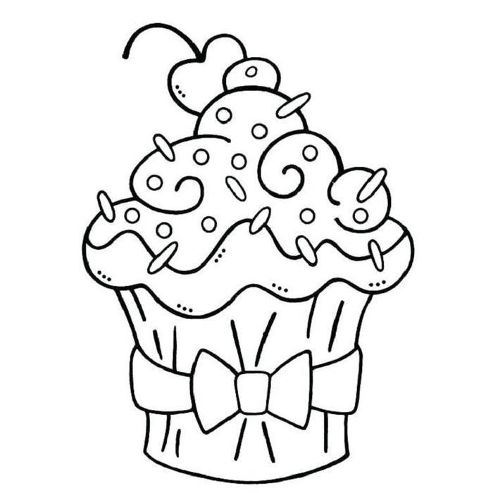 Cupcakes Coloring Pages To Download