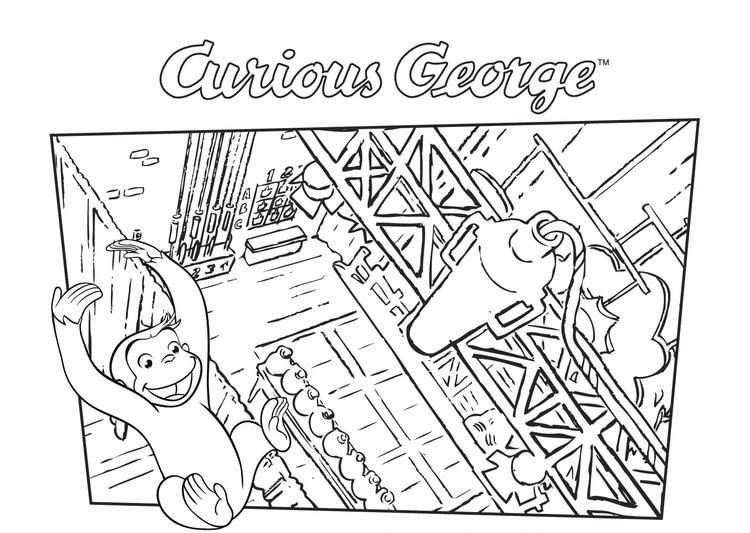 Curious George Coloring Pages Cartoon
