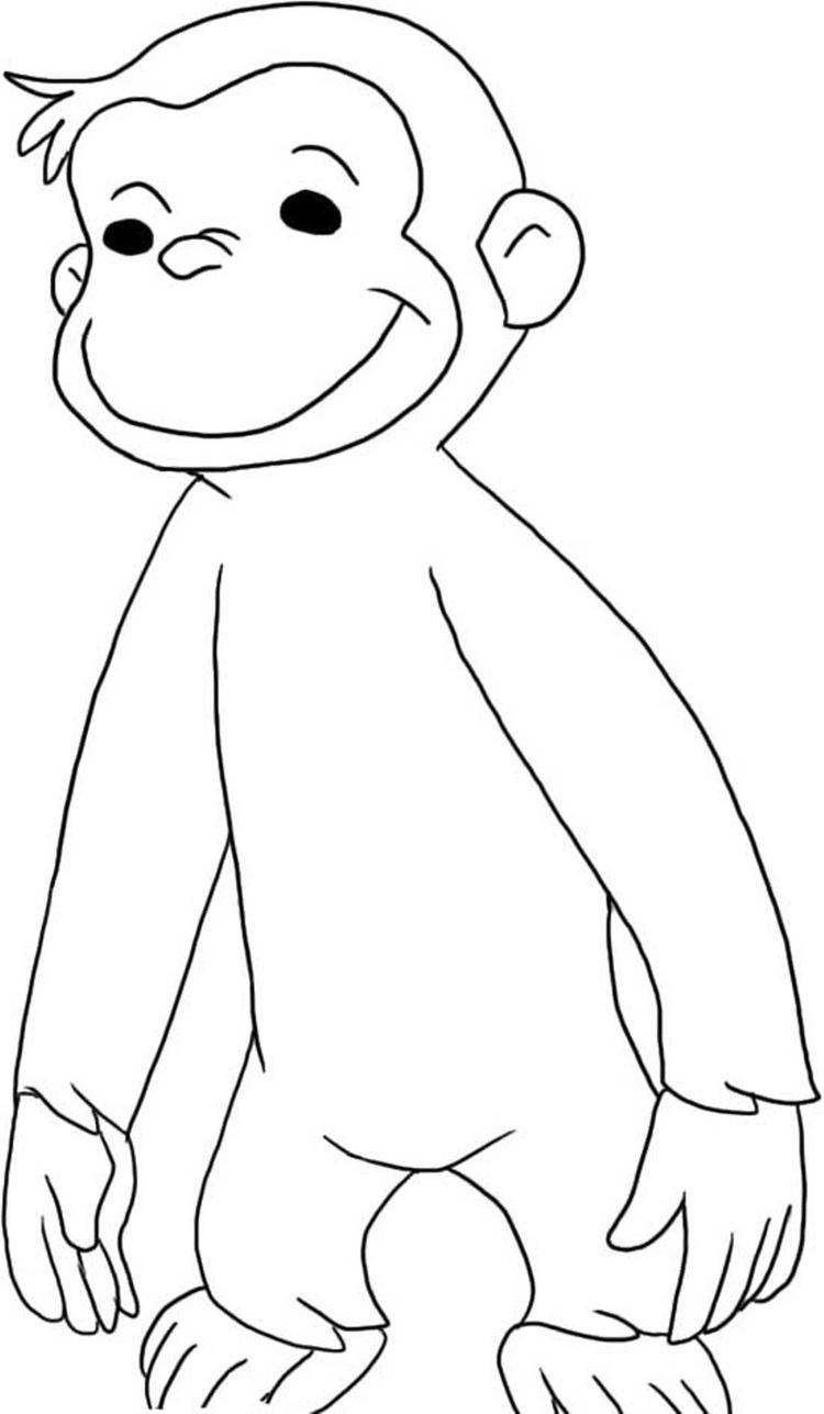 Curious George Coloring Pages For Kids