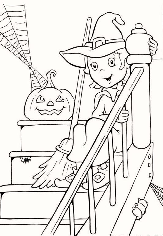Cute And Beautiful Pumpkin Halloween Coloring Pages