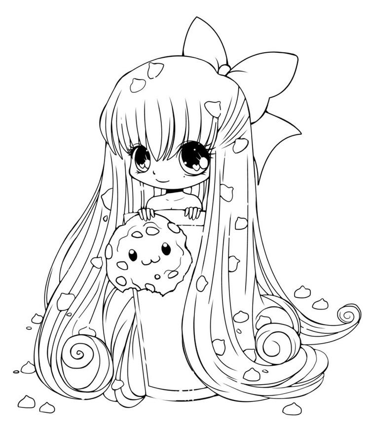 Cute Anime Coloring Pages Chibi