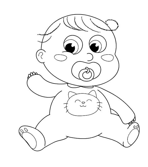 Cute Babies Blushing Coloring Pages