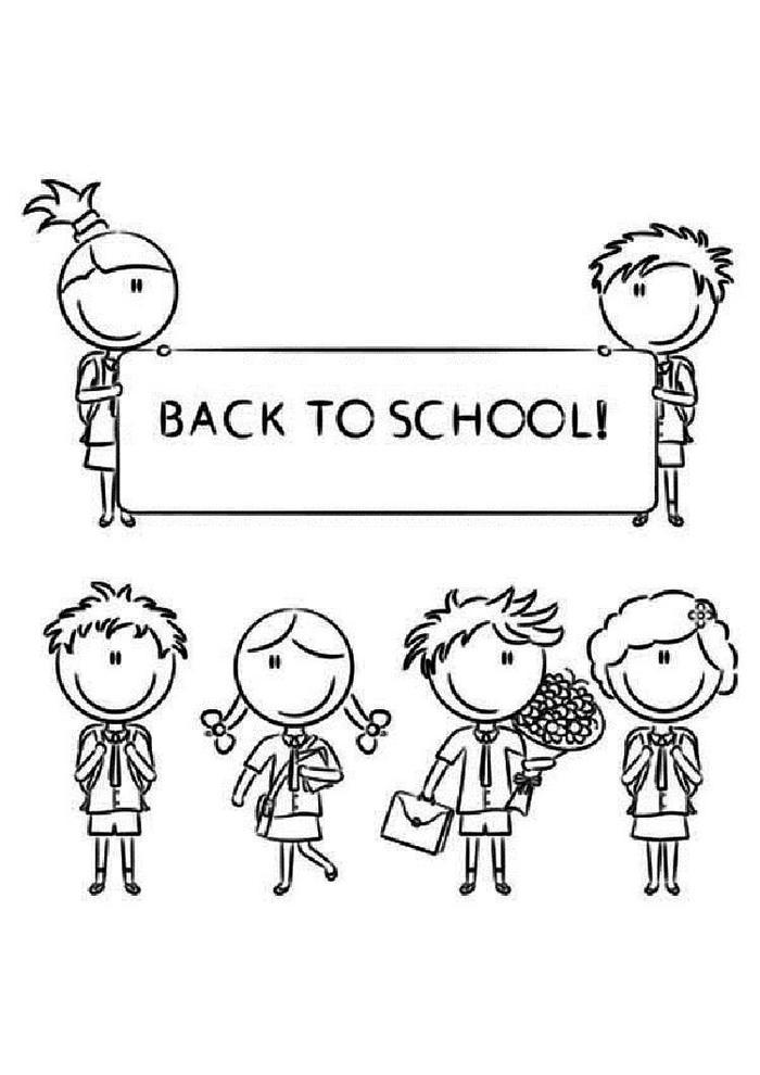Cute Back To School Coloring Pages
