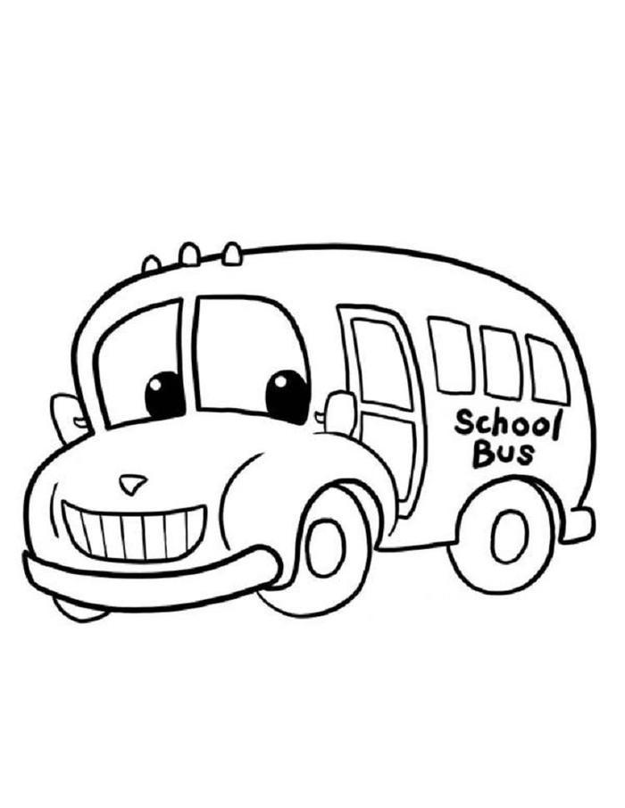 Cute Bus Coloring Pages