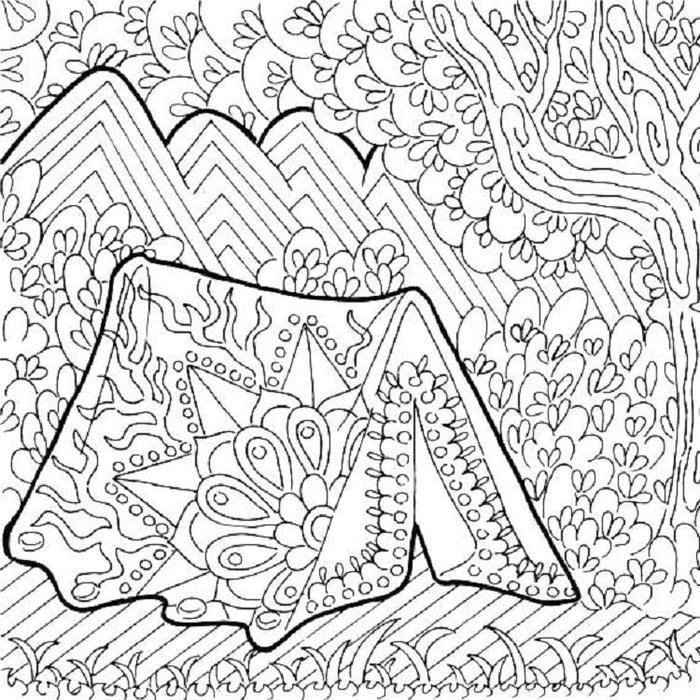 Cute Camping Coloring Pages