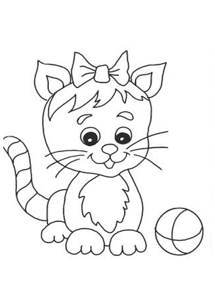 Cute Cat Coloring Pages Printable - Coloring Ideas