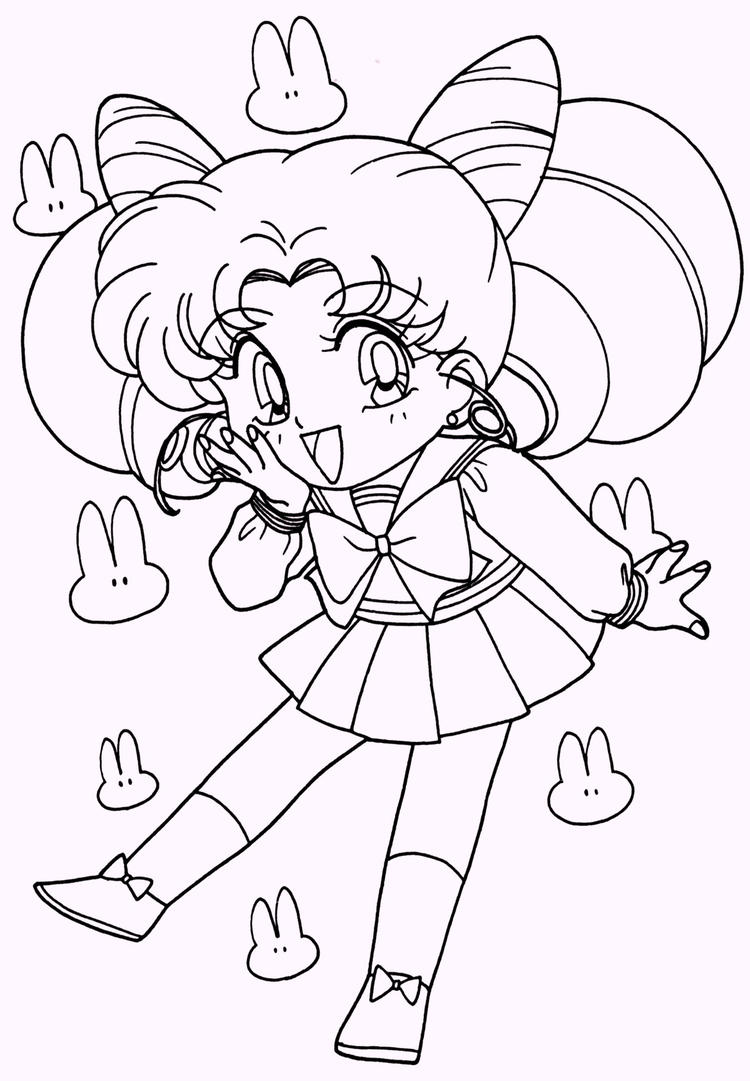 Cute Chibi Sailor Moon Coloring