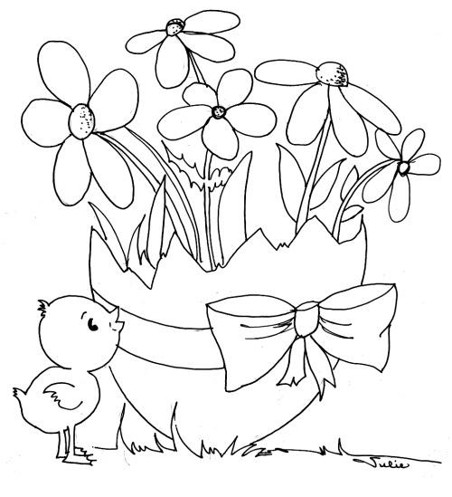 Cute Chick Easter Coloring Pages