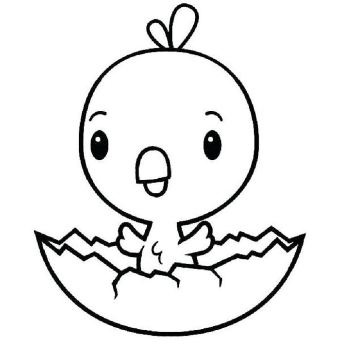 Cute Chicken Coloring Pages