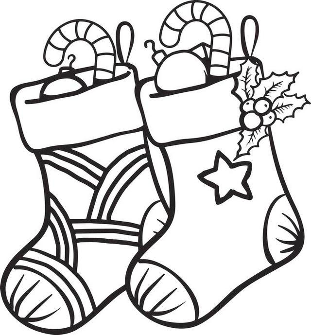 Cute Christmas Stocking Coloring Books