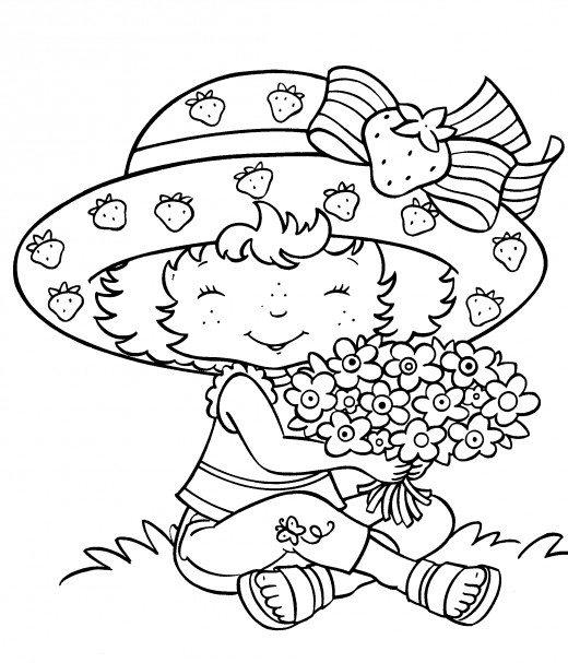 Cute Coloring Pages For Girls Strawberry Shortcake