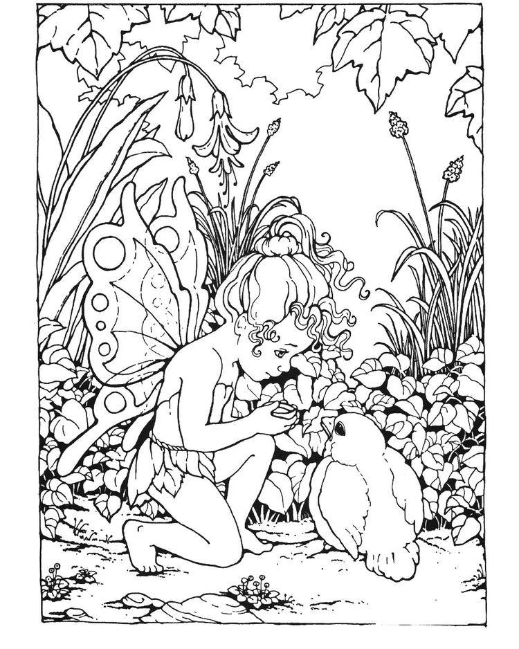 Cute Coloring Pages For Teenagers Difficult Fairy 1