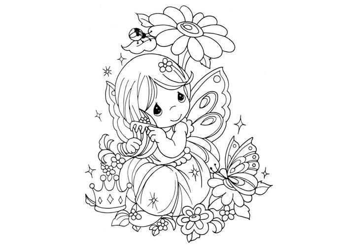 Cute Coloring Pages For Teenagers Difficult Fairy