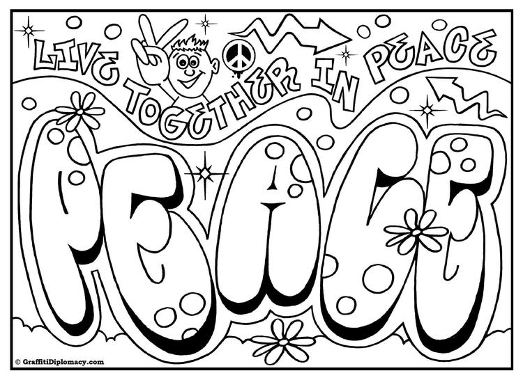 Cute Coloring Pages For Teenagers Graffiti 2