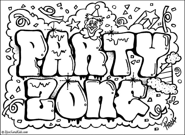 Cute Coloring Pages For Teenagers Graffiti
