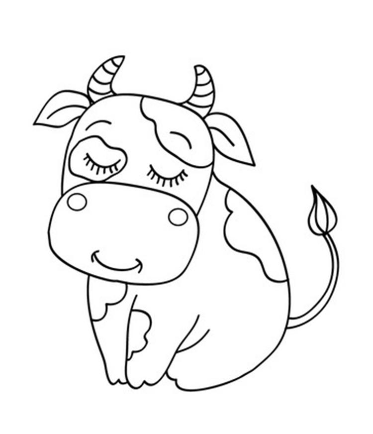 Cute Cow Coloring Pages To Print
