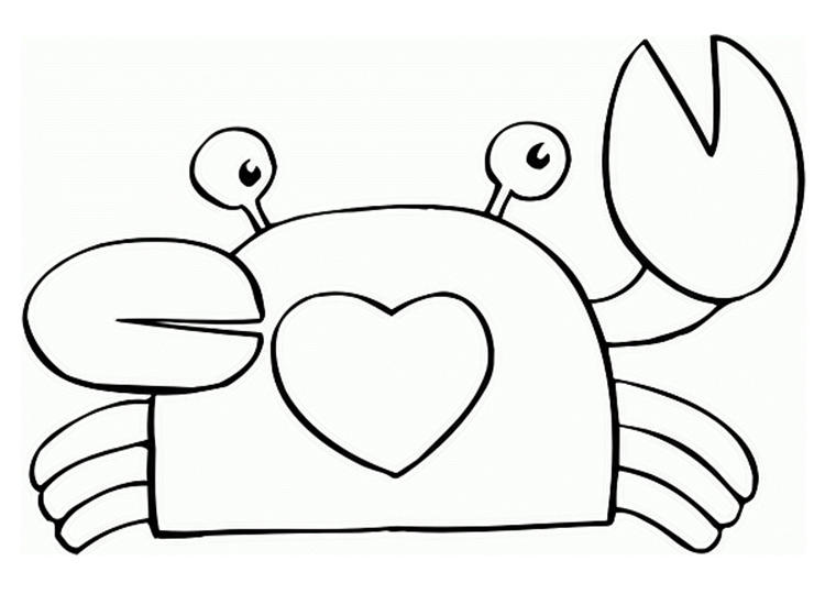 Cute Crab Coloring Pages For Children