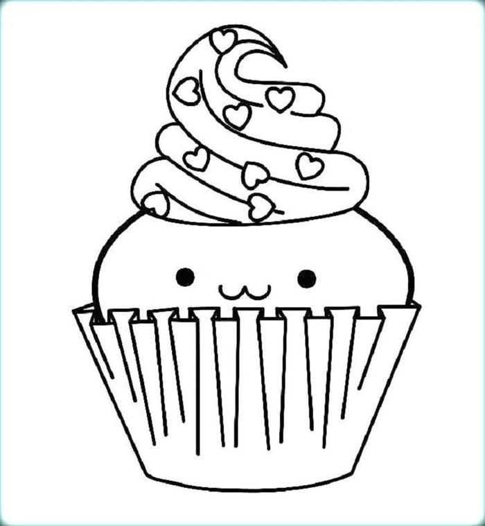 Cute Cupcakes Coloring Pages