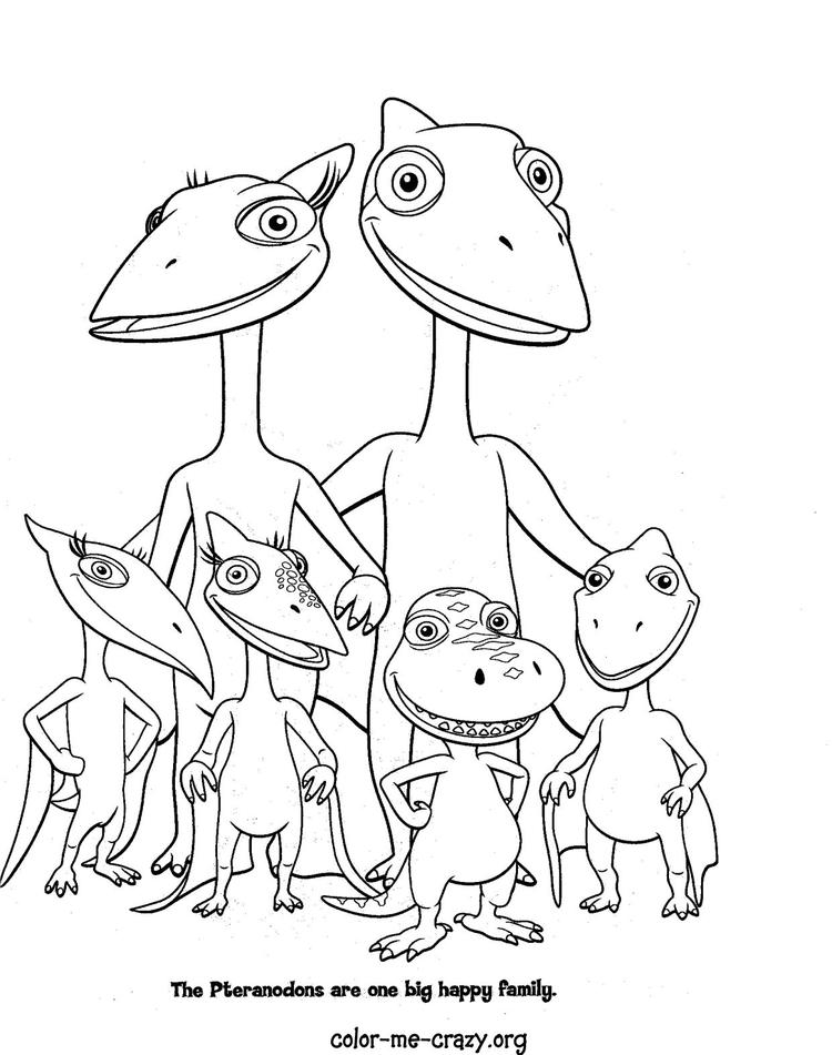 Cute Dinosaur Train Coloring Pages