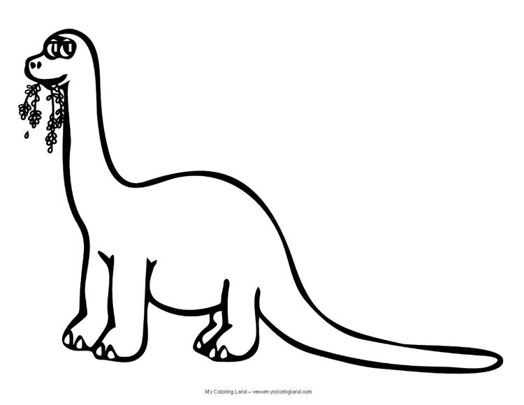 Cute Dinosaurs Coloring Pages For Kids