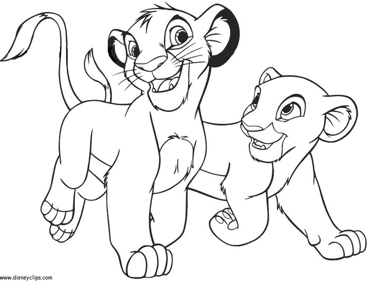 Cute Disney Coloring Pages Lion King