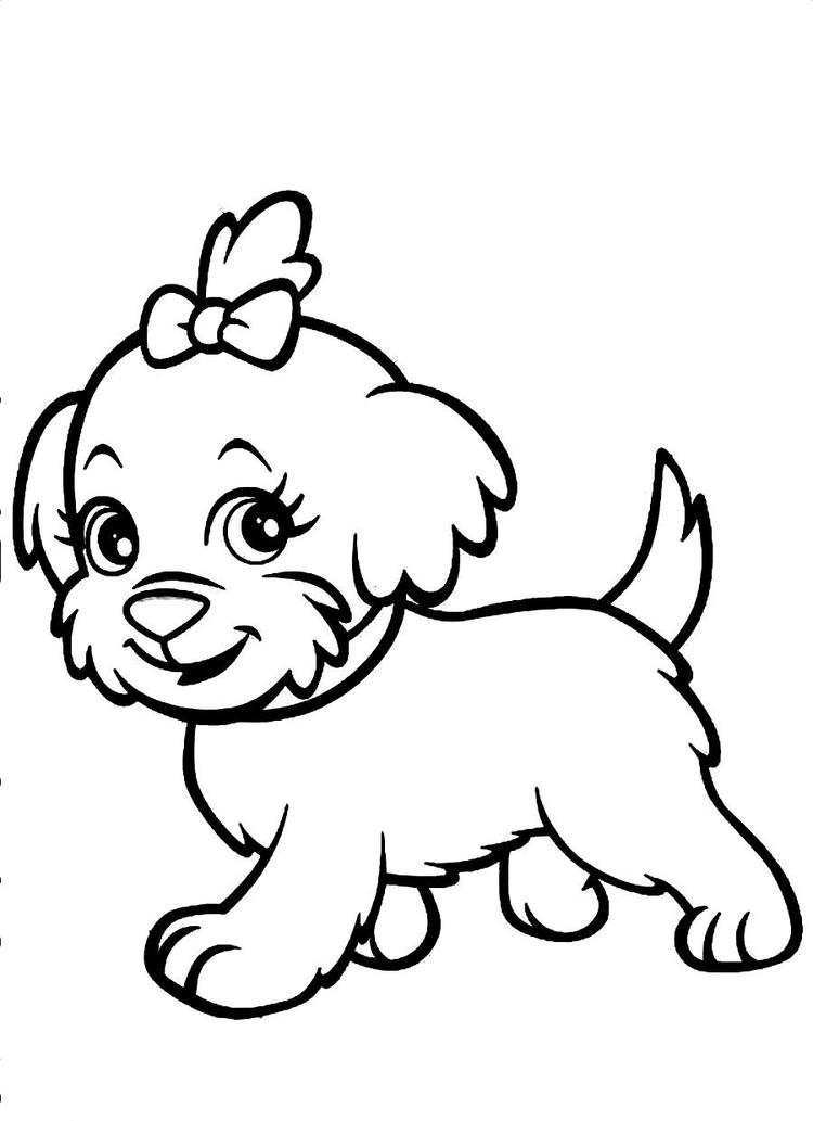 Cute Dog Coloring Pages For Girls