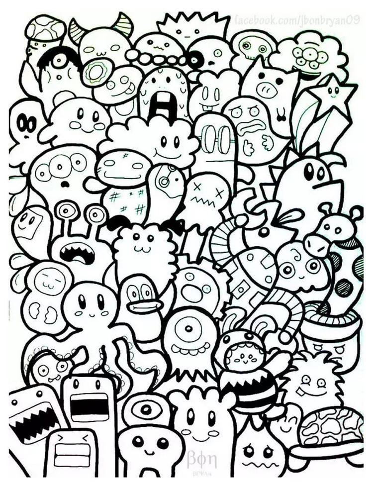 Cute Doodle Coloring Pages